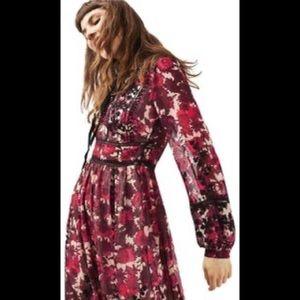 Topshop midnight floral maxi dress